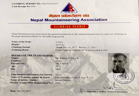 Trekking Peak permit fees of Nepal